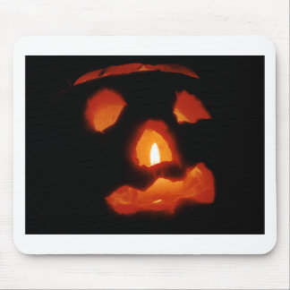 Halloween pumpkin and candle mouse pad