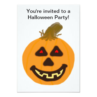"Halloween Pumpkin and Ghost Party Invitation 5"" X 7"" Invitation Card"