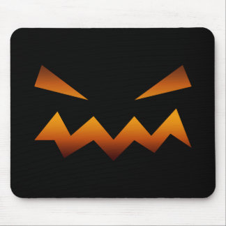 Halloween pumpkin angry face mouse pad