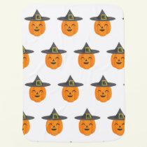 Halloween Pumpkin Baby Blanket