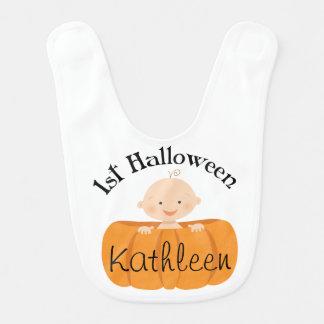 Halloween Pumpkin Baby Personalized Infant Bib