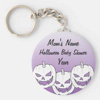 Halloween Pumpkin Baby Shower KeyChains