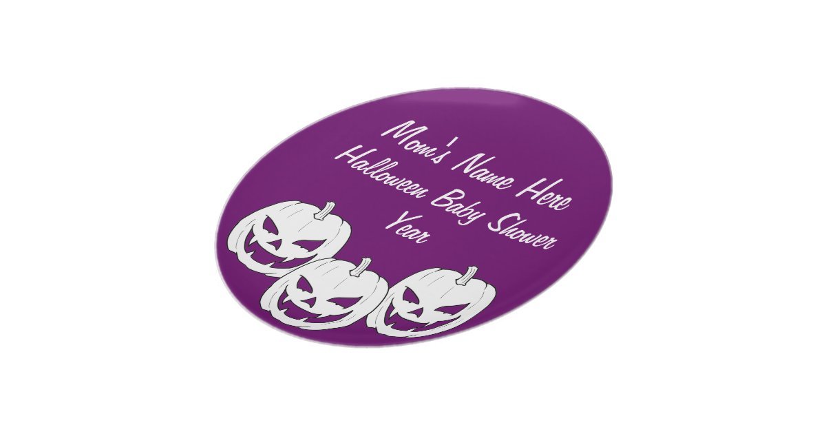 halloween pumpkin baby shower plates zazzle