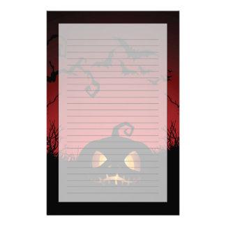 Halloween Pumpkin Background Stationery