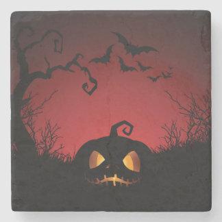 Halloween Pumpkin Background Stone Coaster