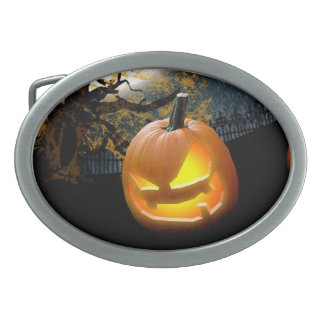 Halloween Pumpkin Oval Belt Buckles