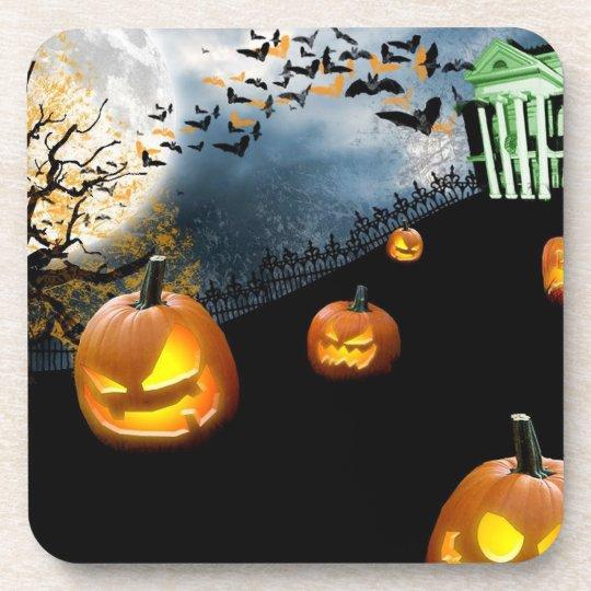 Halloween Pumpkin Beverage Coaster