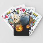Halloween Pumpkin Bicycle Poker Cards