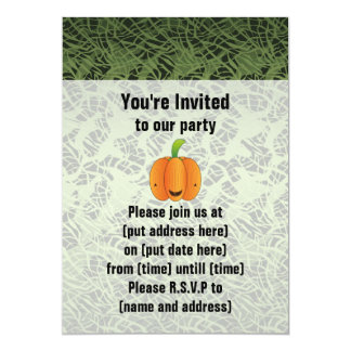 Halloween Pumpkin Birthday Party Card