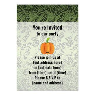 Halloween Pumpkin Birthday Party Custom Announcements