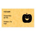 Halloween Pumpkin, Black and Orange. Business Cards