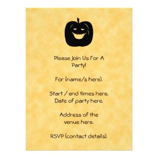 Halloween Pumpkin, Black and Orange. Custom Invites