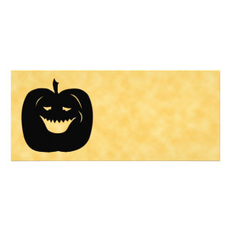 Halloween Pumpkin, Black and Orange. Personalized Invitation