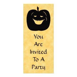 Halloween Pumpkin, Black and Orange. Announcement