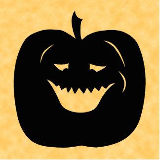 Halloween Pumpkin Black and Orange Photo Sculptures