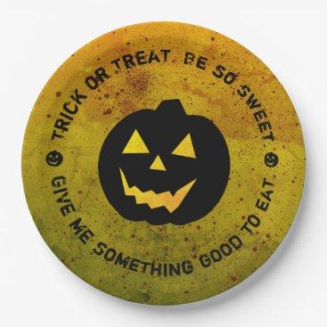 Halloween Themed Halloween Pumpkin Blood Splattered Paper Plates
