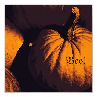 Halloween pumpkin boo invitation