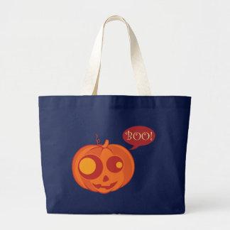 Halloween Pumpkin Boo! Large Tote Bag