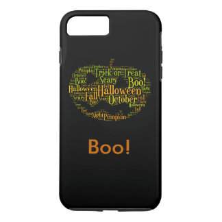Halloween Pumpkin Boo! Personalized Text iPhone 8 Plus/7 Plus Case