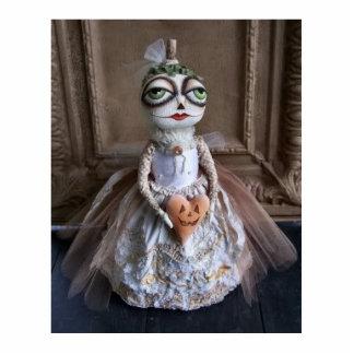 Halloween Pumpkin Bride Photo Sculpture