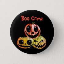 Halloween Pumpkin Buddies Jack-O-Lanterns Button