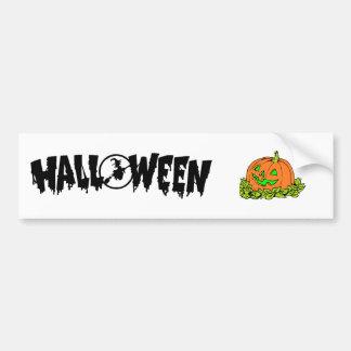 halloween pumpkin bumper sticker