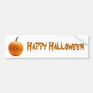 Halloween Pumpkin Car Bumper Sticker