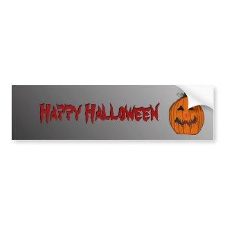 Halloween Pumpkin Bumper Sticker bumpersticker