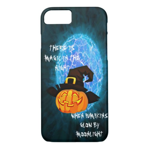 Halloween pumpkin by moonlight Iphone 8/7 case