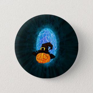 Halloween pumpkin by moonlight pinback button