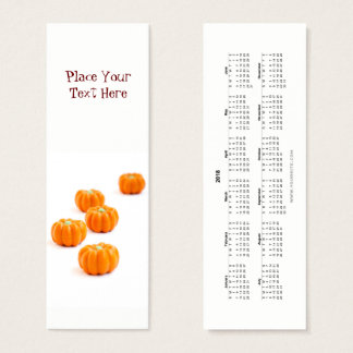 Halloween pumpkin candy Bookmark 2018 Mini Business Card