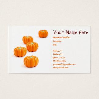 Halloween pumpkin candy business card
