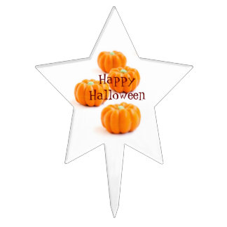 Halloween pumpkin candy cake topper