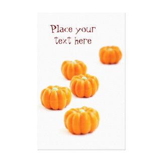Halloween pumpkin candy canvas print