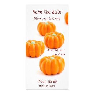 Halloween pumpkin candy card