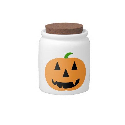 Halloween Pumpkin Candy Jar