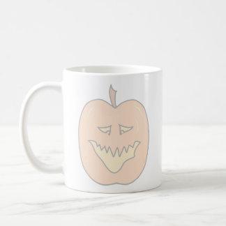 Halloween Pumpkin Cartoon. Pale Colors Coffee Mug