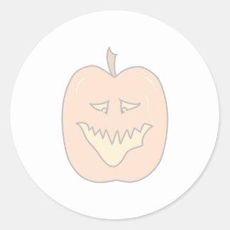 Halloween Pumpkin Cartoon. Pale Colors Classic Round Sticker