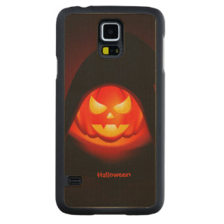 Halloween Pumpkin Carved Maple Galaxy S5 Case