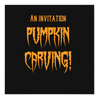 Halloween Pumpkin Carving Invites