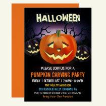 Halloween Pumpkin Carving Party Invitation
