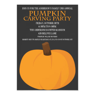 Halloween Pumpkin Carving Party Invitations