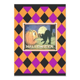 HALLOWEEN PUMPKIN & CAT CARD