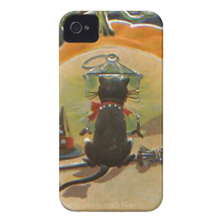 Halloween Pumpkin Cat iPhone 4 Case