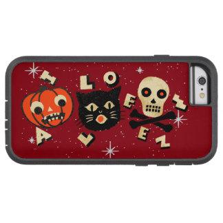 Halloween pumpkin cat skull vintage tough xtreme iPhone 6 case