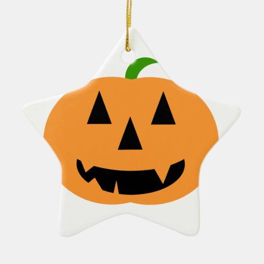 Halloween Pumpkin Ceramic Ornament
