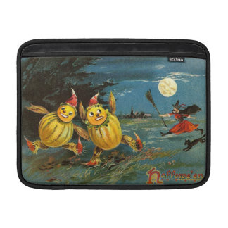 Halloween Pumpkin Characters and Witch MacBook Air Sleeves