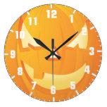 halloween pumpkin clocks