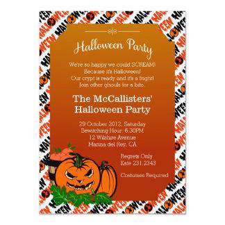 Halloween Pumpkin Costume Family Fun Party Invites Custom Invites