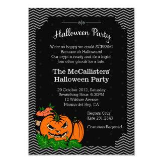 Halloween Pumpkin Costume Family Fun Party Invites Announcement